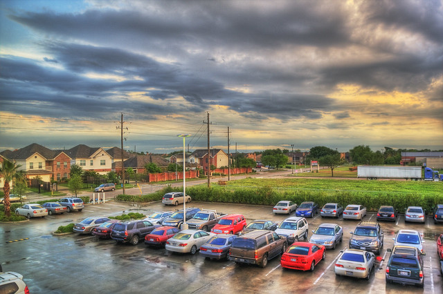 HDR parking lot