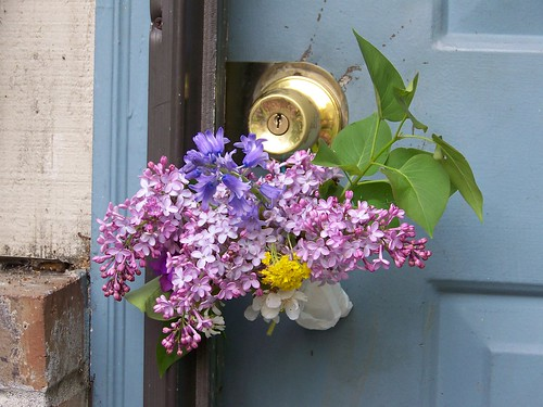 May Flowers on the Doorknob