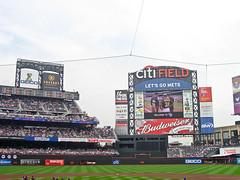 Citi Field scoreboard.