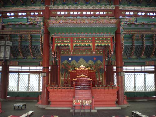 King's throne (wide), Geunjeongjeon, Gyeongbok Palace, Seoul