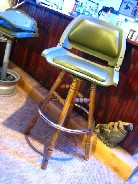 Boat Seat Stool : Boat seat meets bar stool flickr photo sharing