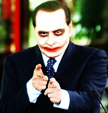 Silvio Berlusconi as The Joker