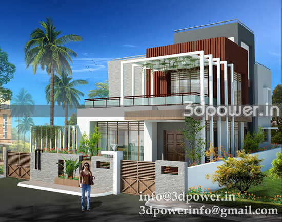 Modern Bungalows Elevation