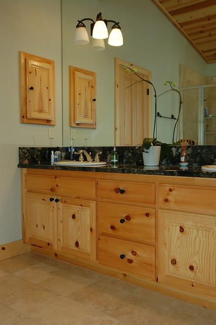 Knotty Pine Bathroom Vanities