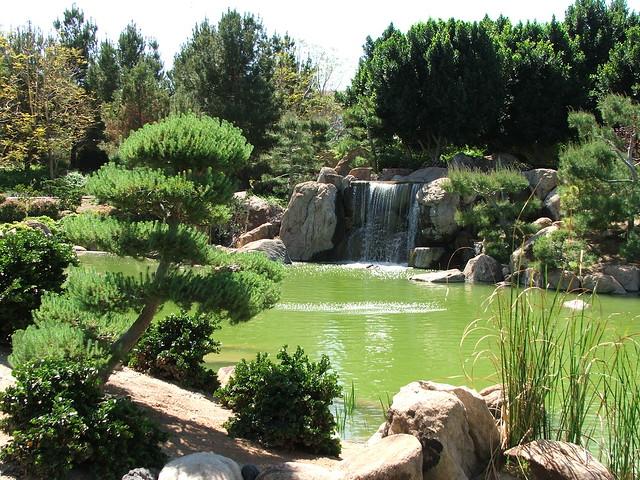 Waterfall In The Japanese Friendship Garden In Phoenix Arizona Flickr Photo Sharing