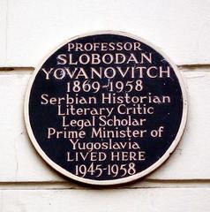 Photo of Slobodan Yovanovitch brown plaque