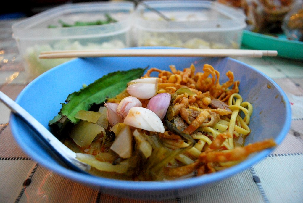 Khao Soi with chicken THB20 -  Night Market, Kad Suan Kaew