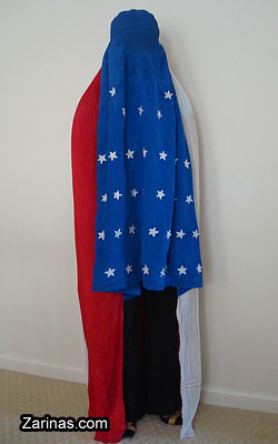 Red, White & Blue Burqa - American Flag Burka