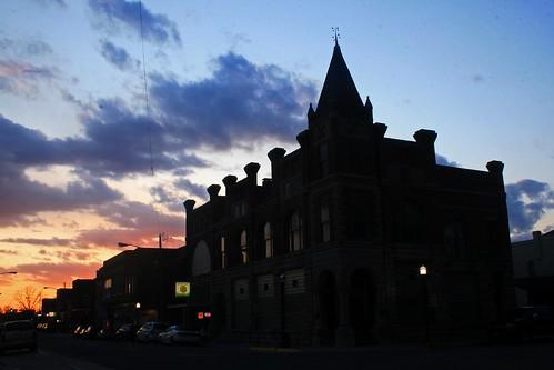 sunset silhouette architecture