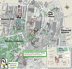 Suffolk University Bike Map Rough Draft This Is Just A R Flickr