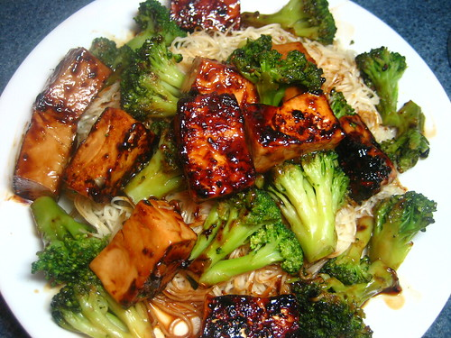 General Tso's Tofu and Chinese Noodles