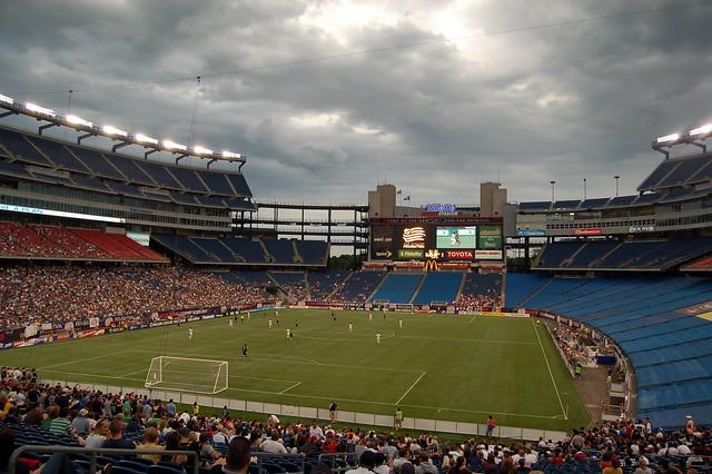 Half full stadium