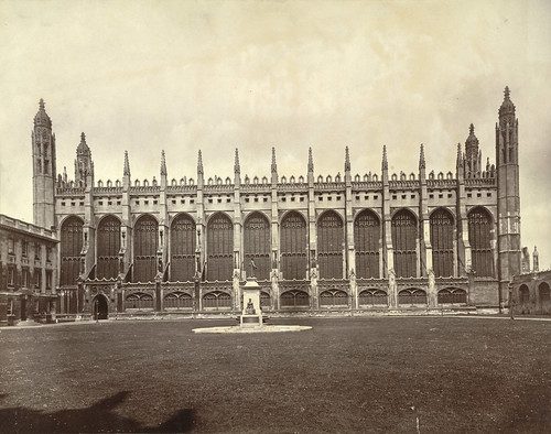Cambridge. King's College Chapel (Side View)