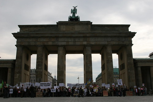 Zensursula Sperrwache at the Brandenburg Gate, Berlin