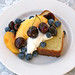 Pound Cake topped with fruit