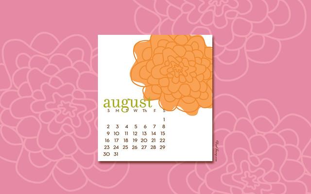 August 2009 Computer Desktop Calendar