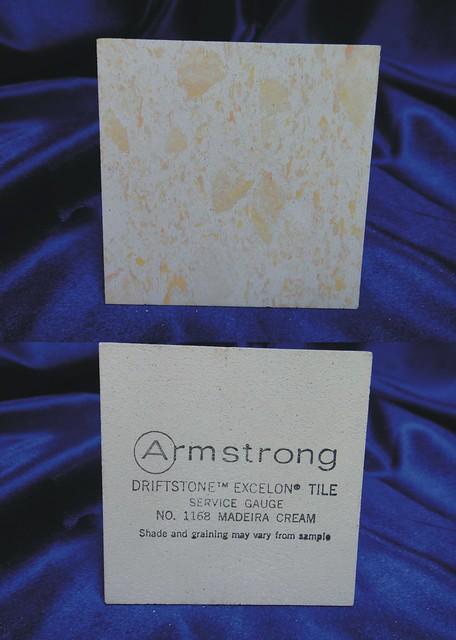 Armstrong Driftstone Excelon Vinyl Asbestos Floor Tile Sample 1168