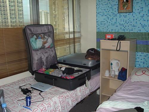 Hotel room in Kowloon, Hong Kong