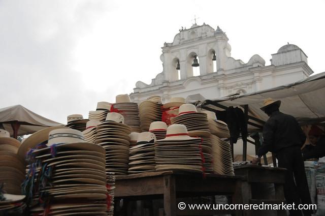 San Francisco El Alto Market, Hats - Guatemala