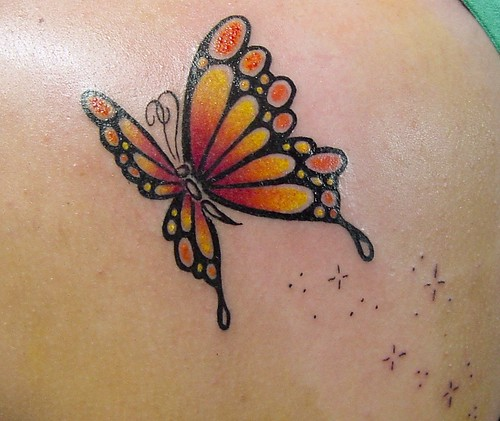 Butterflies women back tattoo pictures tattoo ideas for Butterfly tattoos gallery