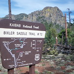 Bixler Saddle Trailhead sign - Kaibab National Forest