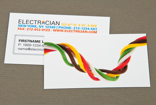 Electrician business card with twisted wires a photo on flickriver electrician business card with twisted wires colourmoves