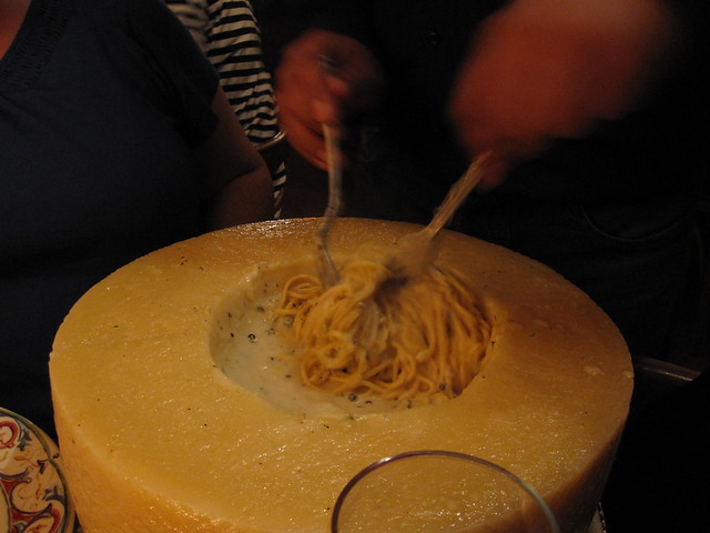 cheese wheel pasta nyc