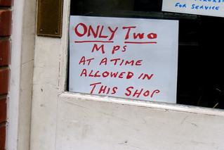 Only two MPs at a time allowed in the shop