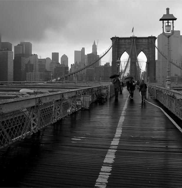 Sur le pont de Brooklyn