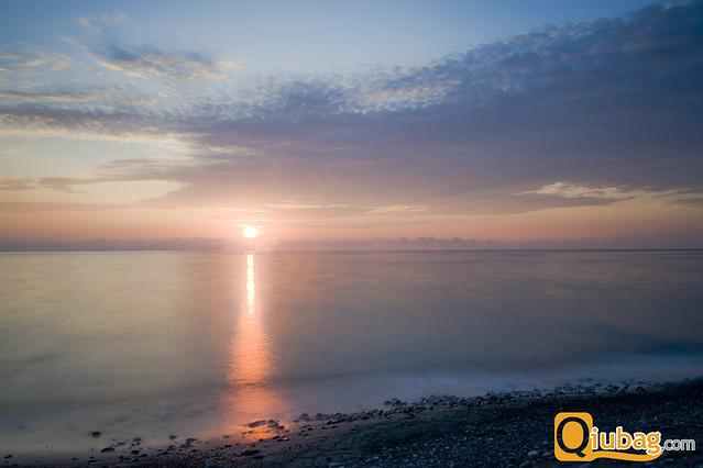 Wschód słońca w Gruzji
