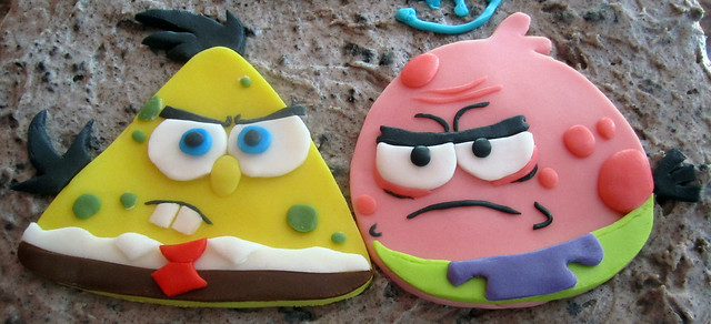 spongebob amp patrick as angry birds flickr photo sharing