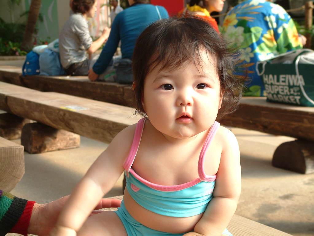 Japanese Baby In Swim Suit 8 Months Old Japanese Baby Girl Flickr