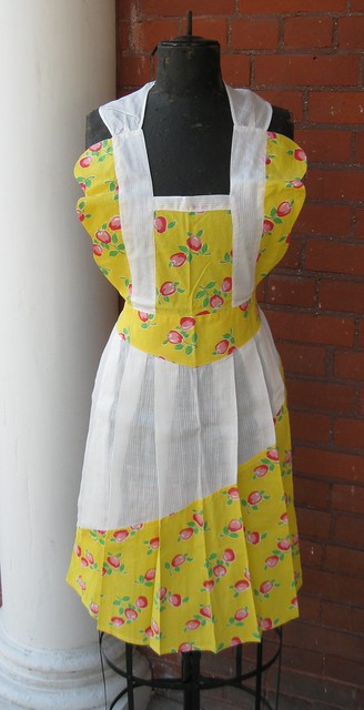 Cherry Pinafore Apron
