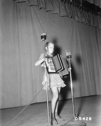 Talent Shown Girl Playing Accordion