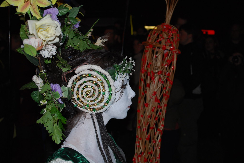 DSC_0529 Beltane Fire Festival 2009 - Calton Hill, Edinburgh - May Queen Portrait