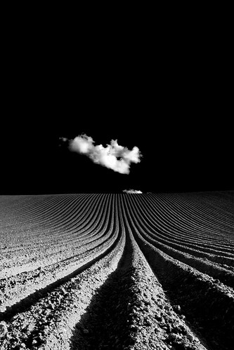 blackandwhite bw field clouds rural canon landscape geotagged blackwhite spring northernireland biancoenero agricultural blancinegre ploughed countydown explored noireblanc canon50d bestminimalshot theemptyplaces