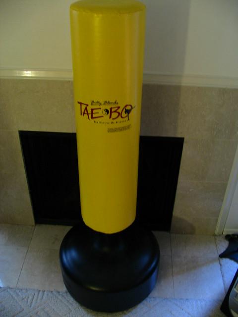 tae bo water filled adjustable punching bag flickr