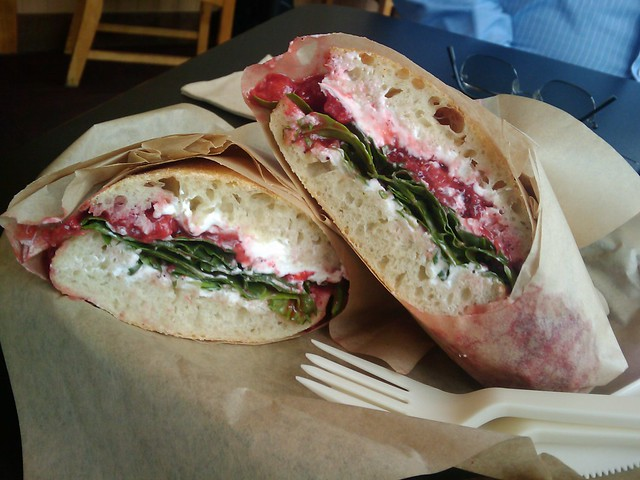 Burgerville's Balsamic Strawberry Goat Cheese Panino | Flickr - Photo ...