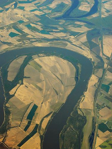illinois cairo missouri mississippiriver tugboat meander barge klondike aerialphotograph