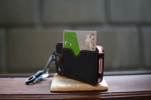 Photo of JR Suica card in pass case.
