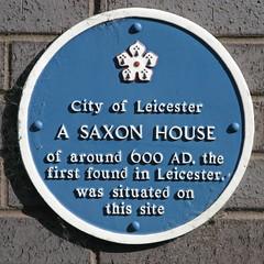 Photo of Saxon House of around 600 AD blue plaque