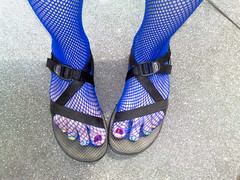 footwear, purple, cobalt blue, sandal, limb, leg, blue,
