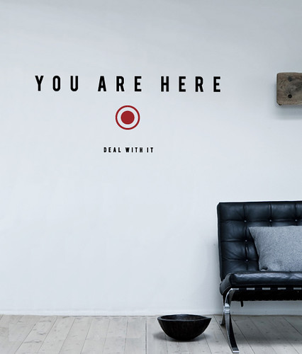 you are here wall stickerhu2 design | www.hu2/store/… | flickr