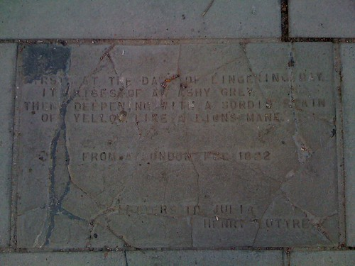 Pavement poetry, South Bank: A London Fog 1822 - Henry Luttrell