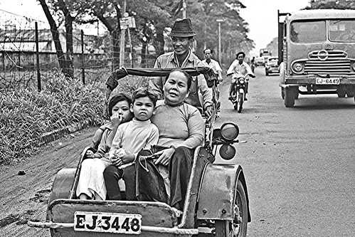 Saigon taxi in 1968 by Lance & Cromwell