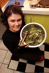 rachel made a fancy salad for dinner