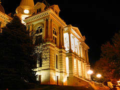 Tippecanoe County Courthouse, Night View