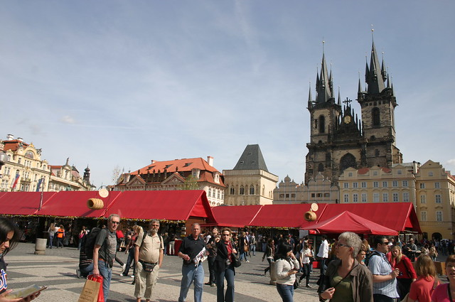 Prague Old Town Square in Easter
