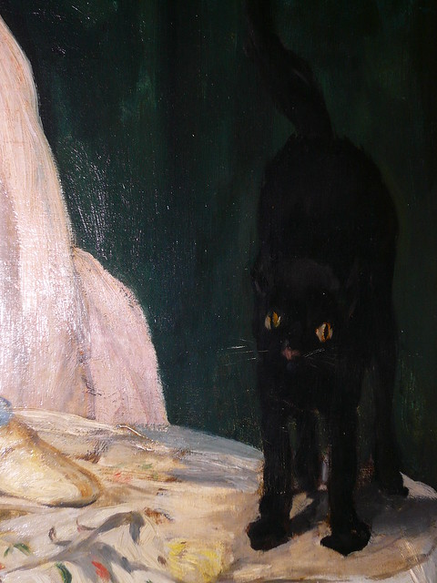 Cat In Manet S Olympia