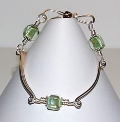 Lampwork & Ribbon bracelet
